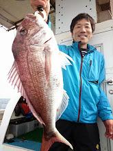 Photo: おおーっ! グッドサイズの真鯛でした!