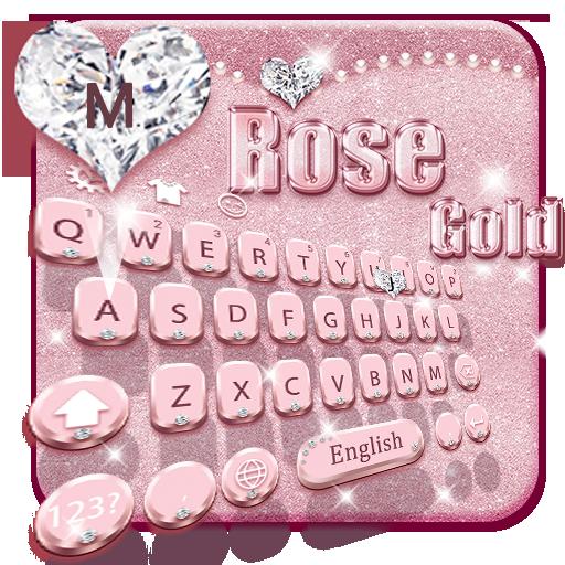 Rose Gold Keyboard Theme