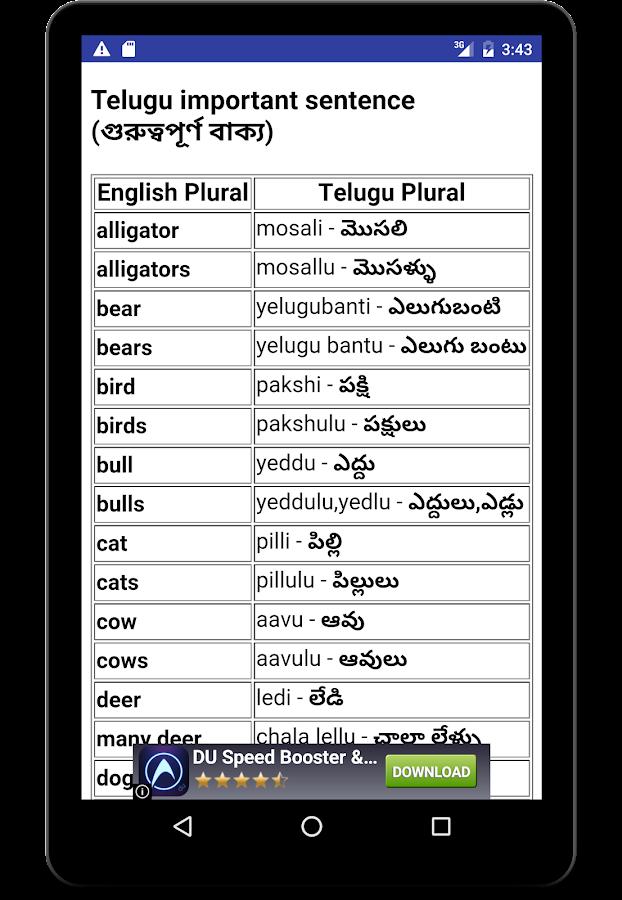 Learn English 30 Day In Telugu Screenshot