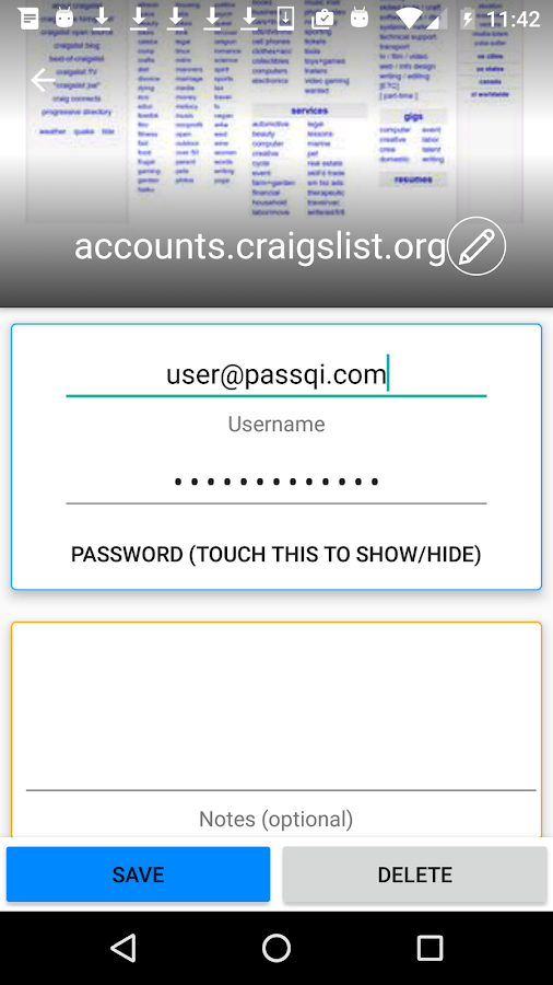 passQi - Password Manager- screenshot