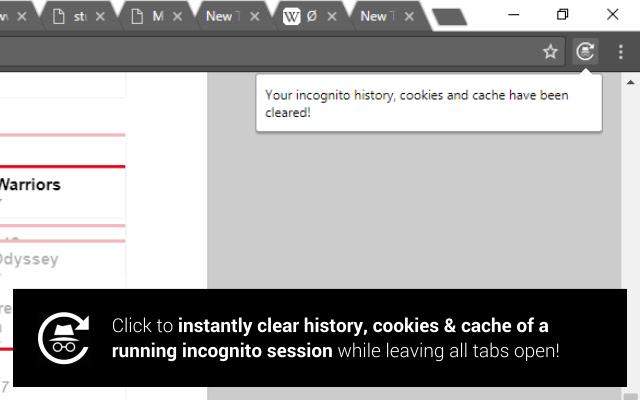Incognito Mode Reset Button