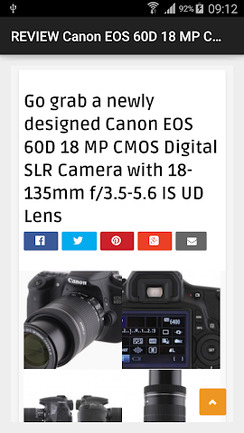 android REVIEW EOS 60D 18 MP Camera Screenshot 0