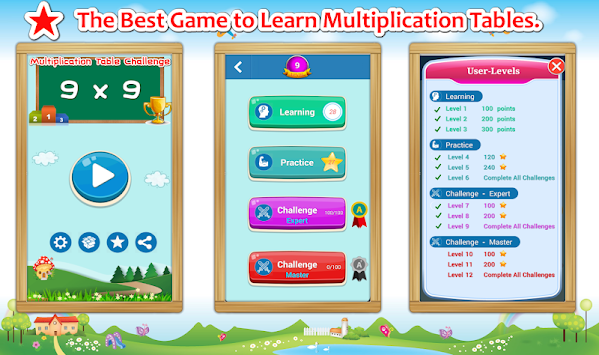 Multiplication Tables Challenge apk screenshot