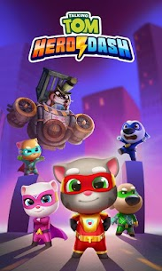 Talking Tom Hero Dash Mod Apk 1.5.1.842 (Unlimited Money + Diamonds) 7