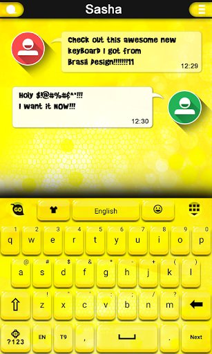 Gold Crystal Keyboard