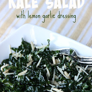 Kale Salad with Lemon Garlic Dressing