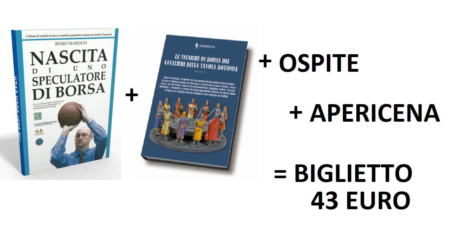 924c2cbcc3 IL BIGLIETTO DI INGRESSO COSTA 43 EURO MA TI REGALIAMO 1) il libro scritto  dai redattori e lettori Lombard sulle loro strategie (50 EURO)