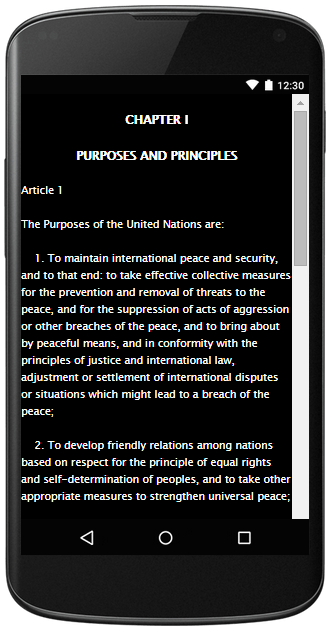CHARTER OF THE UNITED NATIONS- screenshot
