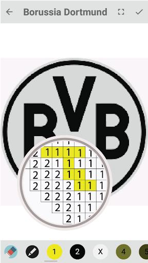Pixel football logos : Sandbox color by numbers hack tool