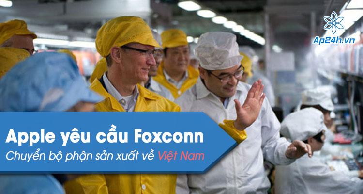 Foxconn chuyen mot phan san xuat sang Viet Nam tu Trung Quoc
