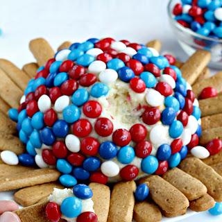 Skittles America Mix Cream Cheese Ball