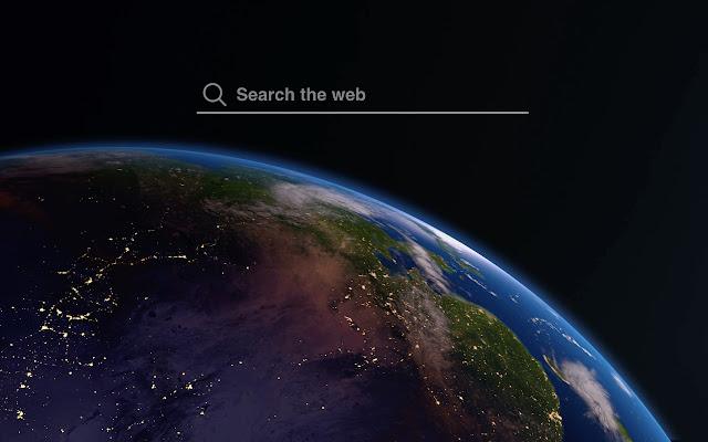 Earth In Space HD Wallpaper Tab Theme