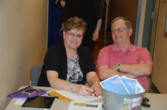 Photo: Pam and Stan at Registration.