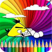 Coloring book of angry bird for kids - Free