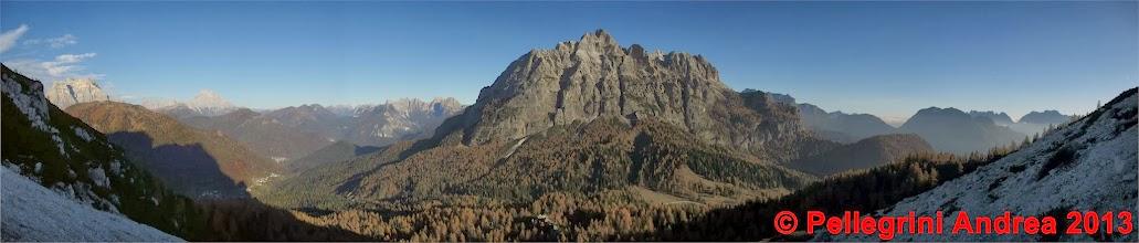 Photo: Panorama 6 dalla discesa verso il Passo Duran