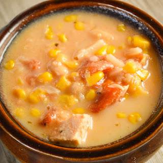 Crock Pot Chicken Corn Chowder.
