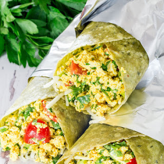 Vegan Tofu Breakfast Burritos