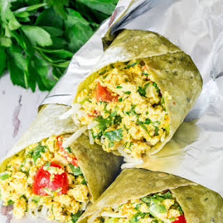 Vegan Tofu Breakfast Burritos.