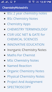 Download Chemistry Notes Info APK latest version app for android devices
