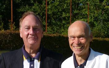 Photo: 9.30am start for Men's Championship- John Lan- Marker and Brian Perryman