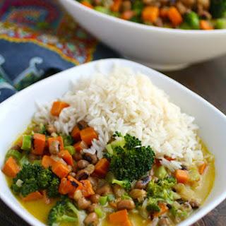 Sweet Potato & Black-Eyed Pea Curry (Meatless Monday)