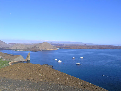 Galapagos-Bartolome - Bartolomé Island, a volcanic islet in the Galápagos Islands.