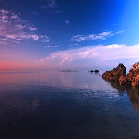 Morning Light at pantai Jodoh by Agus Waluyo - Landscapes Waterscapes