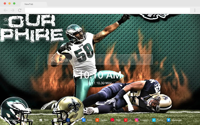 Philadelphia Eagles New Tab HD Themes