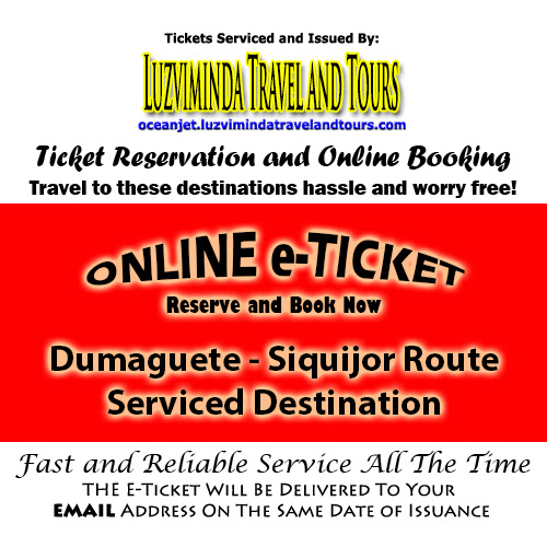 OceanJet Siquijor, Siquijor-Dumaguete Route Ticket Reservation and Online Booking