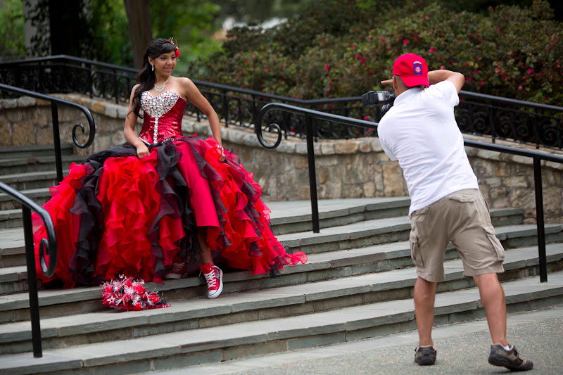 Photo: When I was at the Dallas Arboretum with +Cali Lewisand +RC Concepcion we came across this beautiful young lady who was getting her pictures taken for herQuinceañera.  I was impressed by the beauty of her dress, and the playfulness of her shoes.