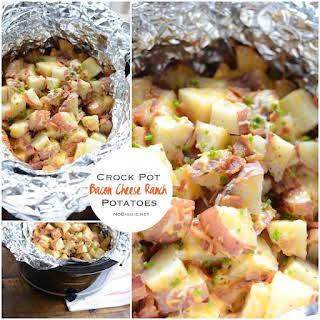 Crock Pot Bacon Cheese Ranch Potatoes.