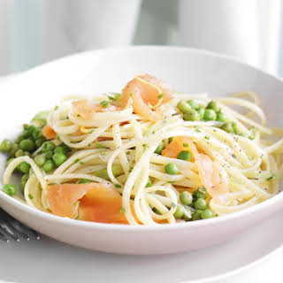 Linguine with Smoked Salmon and Peas.