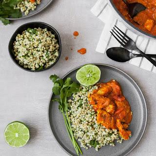 Chicken Tikka Masala with Cilantro–Lime Sorghum.