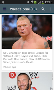 Wrestling News Feed - náhled