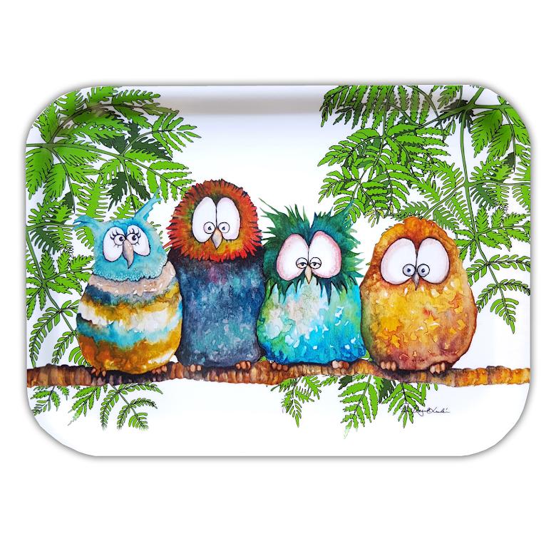 Originella Original - Frukostbricka Ugglorna 27×20 cm