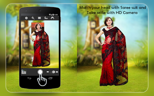 Woman Fancy Saree Photo Suit Editor -Photo Montage - náhled