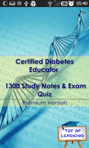 CDE Diabetes Educator Certifca
