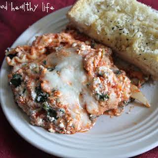 3-Cheese Spinach Lasagna.