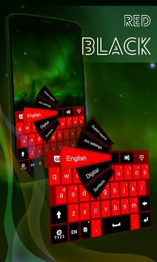 红色黑色键盘主题