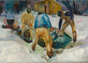 "Photo: Edvard Munch, ""Stradini nella neve"" (1920)"