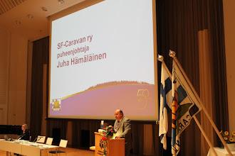Photo: Kokouksen avauspuheet piti Juha Hämäläinen...