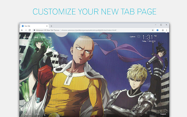 One Punch Man Wallpapers Custom Anime New Tab