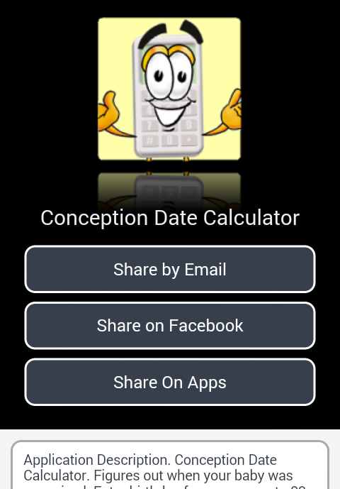 Conception Date Calculator- screenshot