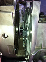 Photo: New transmission splines greased with Honda Moly60, and prepared to get mated up with the new clutch.