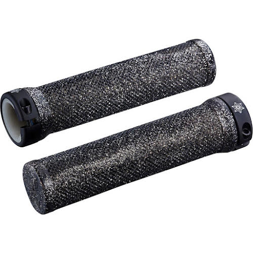 Supacaz Diamond Kush Grips: Black Single Star Ringz