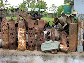 Photo: A UXO (unexploded ordnance) collection in Attapeu. It is a big problem that this organisation is working hard to clean up.