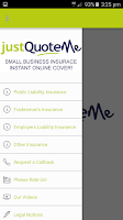 Screenshot of Just Quote Me Insurance Finder