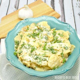 Healthier Slow Cooker Au Gratin Potatoes
