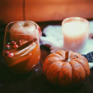 Pumpkin, Cinnamon & Apple Spiced Sangria.