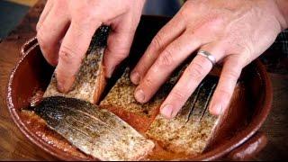 Lachs auf Asiatische Art